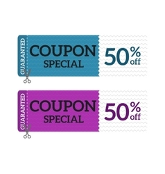 Gift voucher coupon certificate template vector