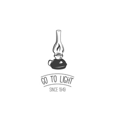 Go to light retro kerosene lamp vintage paraffin vector