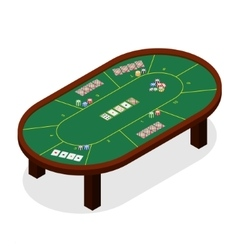 Green Poker Table Isometric View vector image