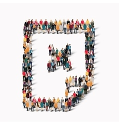group people shape document vector image