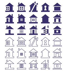 Home icon on white background vector