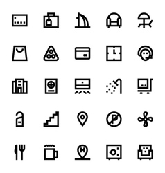 Hotel services icons 3 vector
