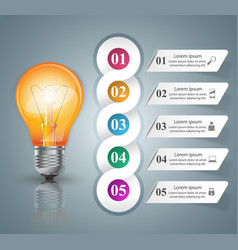infographic design bulb light icon vector image