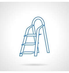 Ladder flat blue line icon vector image