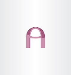 letter a purple stylized logotype vector image vector image