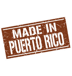 Made in puerto rico stamp vector