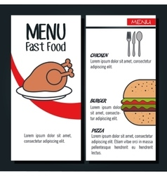 menu fast food isolated icon design vector image