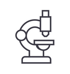 microscope line icon sign on vector image