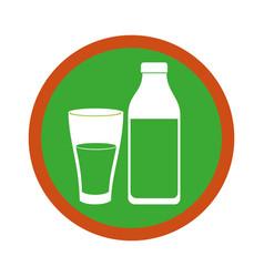 milk bottle isolated icon vector image