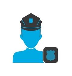 Policeman blue icon vector image vector image