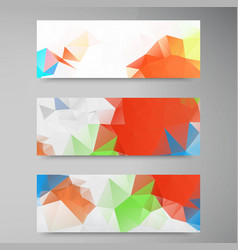 polygon stown set banner 2 110913 vector image