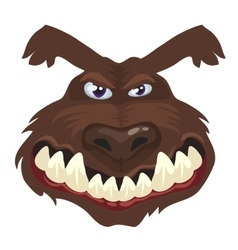 Portrait of a wolf head cartoon wild animal vector
