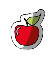 Red apple fruit icon stock vector