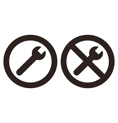 Repair and no repair symbol vector