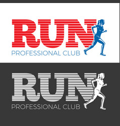 run professional club collection of two pictures vector image vector image
