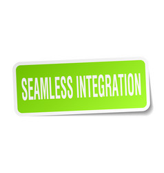 Seamless integration square sticker on white vector