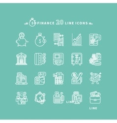 Set of Outline Finance Icons vector image vector image