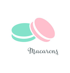 Simple macarons icon vector