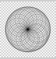 Spirograph element on isolated background vector