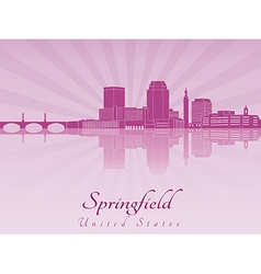 Springfield skyline in purple radiant orchid vector image vector image