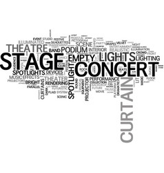 stage word cloud concept vector image vector image