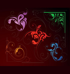 Swirl decorations vector