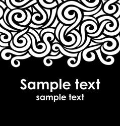 Swirls decoration vector image