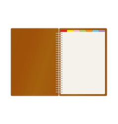 Weekly business planner book vector