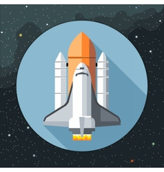 Digital with space shuttle icon vector