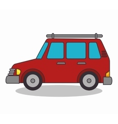 Cart vehicle isolated icon vector