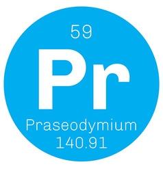 Praseodymium chemical element vector