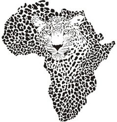 Symbol africa in leopard camouflage vector