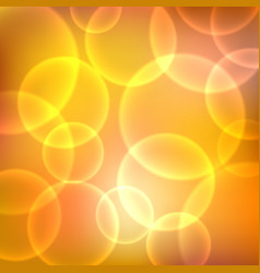 Shining orange background with light effects vector