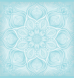 Blue lace floral pattern background vector