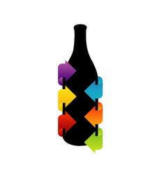 Bottle shaped design element vector