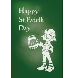 Leprechaun greeting happy st patrick day vector