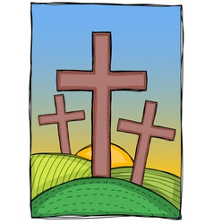 Religion - christian crosses vector