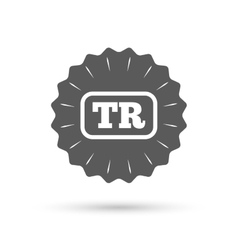 Turkish language sign icon tr translation vector