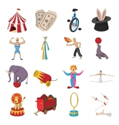 Circus show icons cartoon collection vector