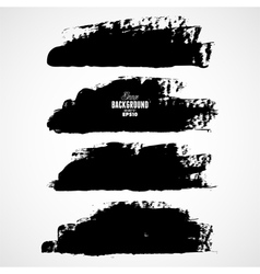 Set of three black grunge banners for your design vector