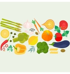 Frame of flat designed food with copyspace vector