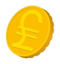 Gold coin with italian lira sign icon vector
