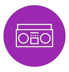 Radio cassette player line icon vector