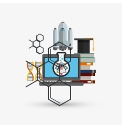 Colorful science design over white background vector