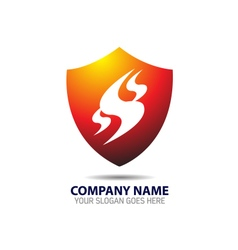 Security shield logo vector