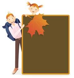Boy girl and school board vector