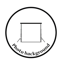 Icon of studio photo background vector