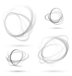 Abstract dotted orbit swirl abstract patterns vector