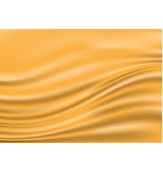 abstract gold fabric satin wave blank space luxury vector image