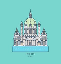 austria karlskirche travel vienna vector image